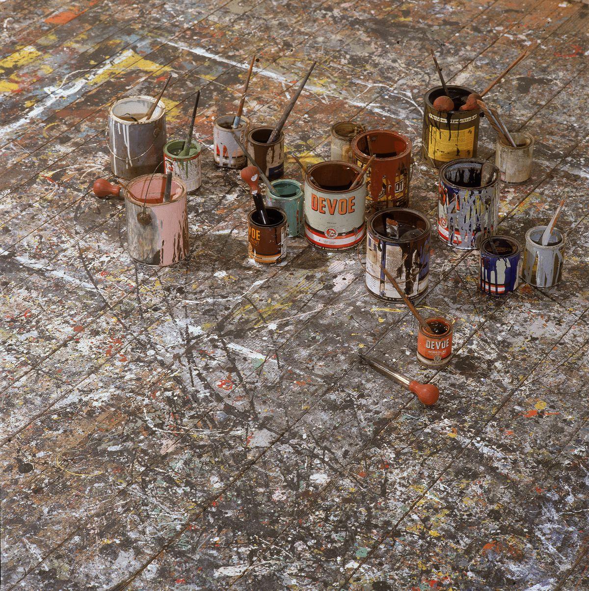 Jackson Pollock's studio in 1991.