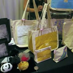 """LA accessories brand <a href=""""http://www.thufri.com/"""">Thursday Friday</a> brought their popular It bag-inspired totes and pouches."""