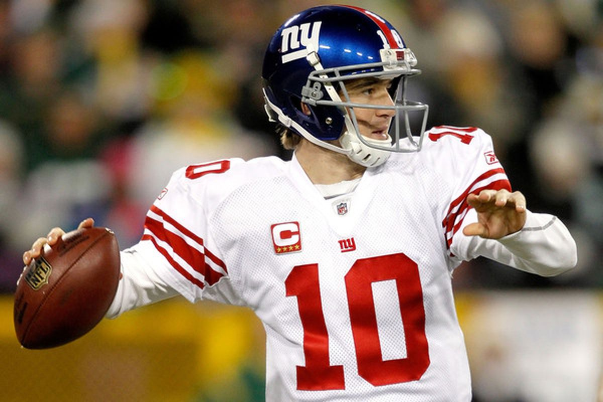 New York Giants quarterback <strong>Eli Manning</strong>.  (Photo by Matthew Stockman/Getty Images)