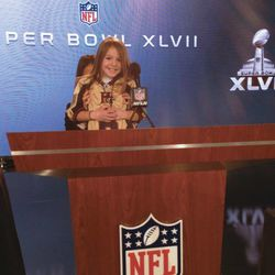 Before NFL commissioner Roger Goodell spoke at a press conference, Sam Gordon came to the podium.