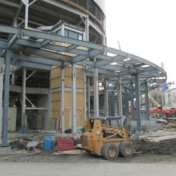 Wider view of the main bleacher entrance -