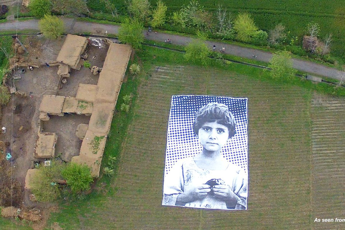 A young girl who lost family in a drone attack