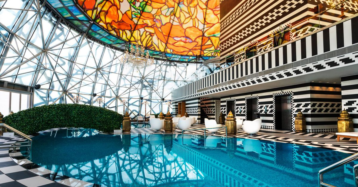 Doha hotel designed by marcel wanders is maximalism at its for Color design hotel