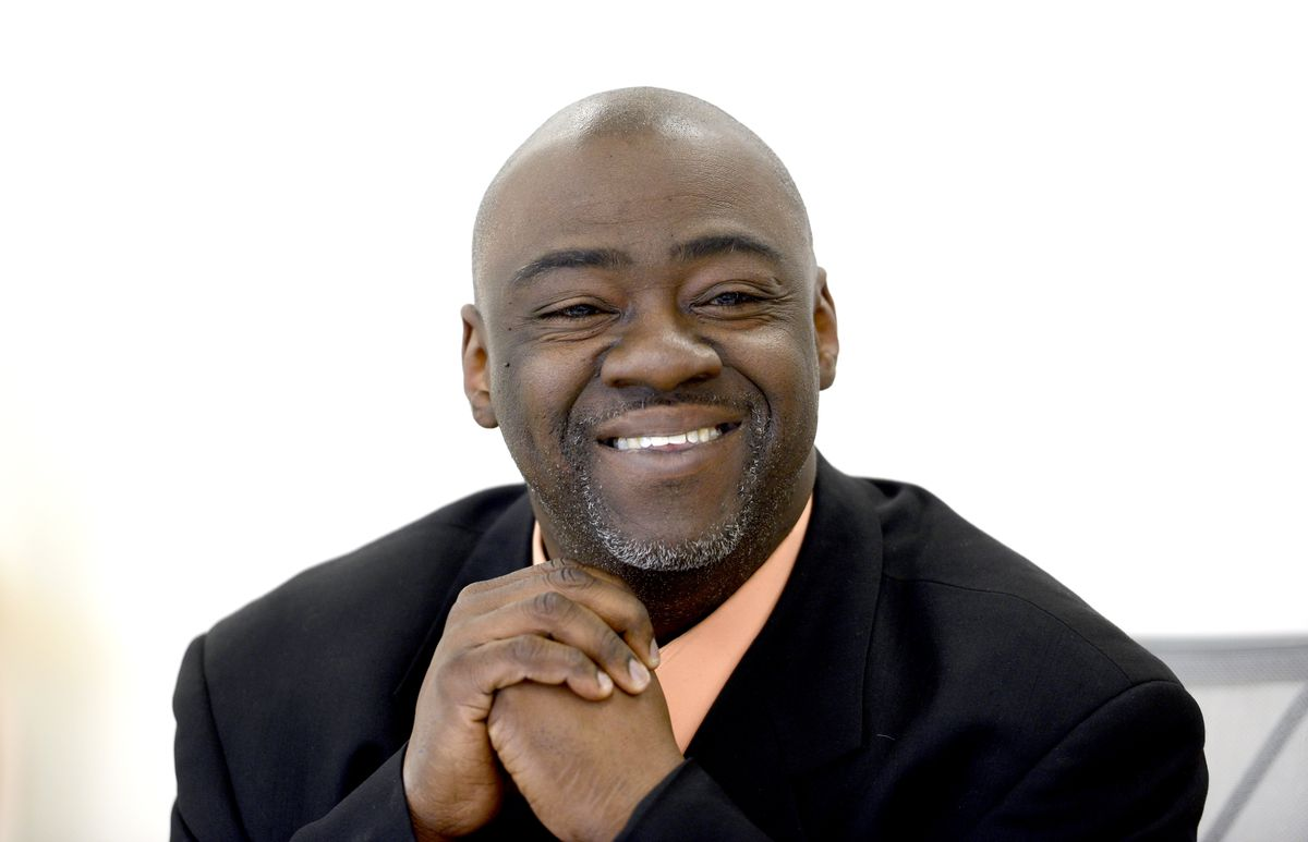 <small><strong>18th Ward aldermanic candidate Derrick Curtis.   Michael Schmidt/Sun-Times</strong></small>