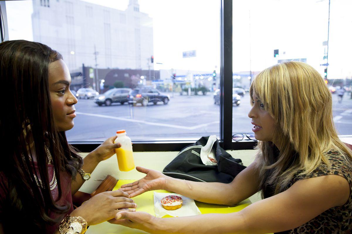 "Mya Taylor and Kitana Kiki Rodriguez, the stars of ""Tangerine,"" which was shot using several iPhone 5s's."
