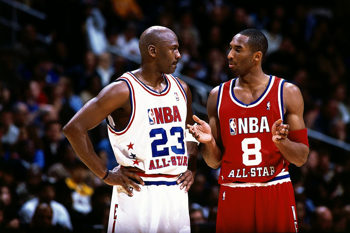 Bryant talks with Jordan