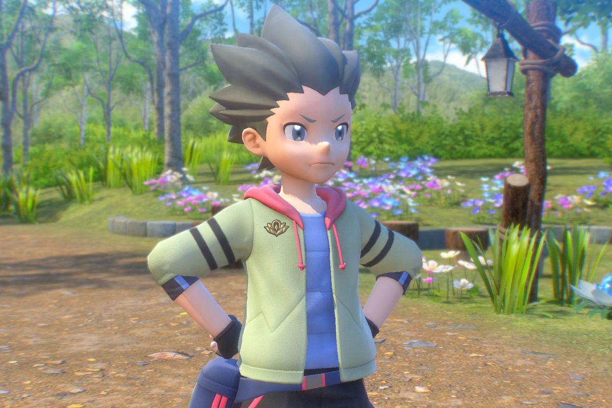 Phil stands with his hands on his hips in a screenshot from New Pokemon Snap