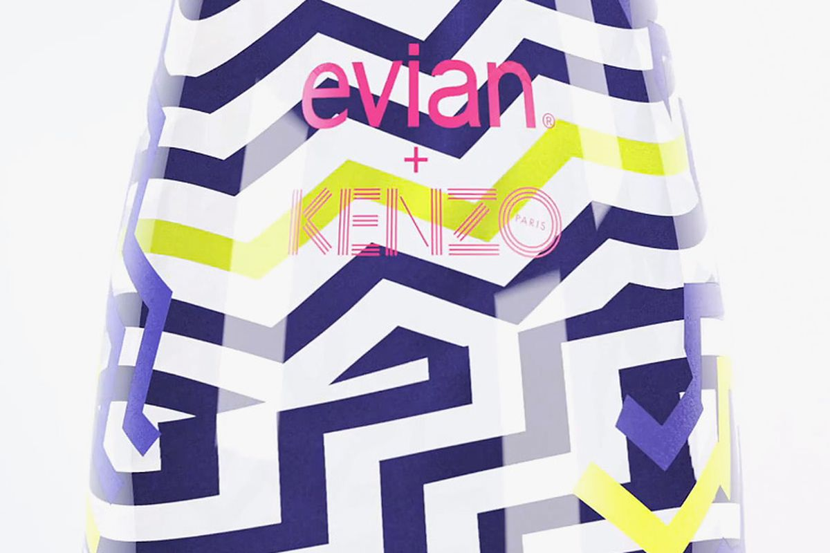 """Image <a href=""""http://www.selectism.com/2014/09/29/see-the-multi-colored-kenzo-for-evian-limited-edition-2015-bottle/"""">via</a>"""
