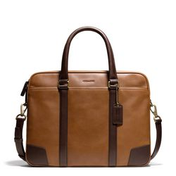 """<a href=""""http://f.curbed.cc/f/Coach_SP_031214_SlimBrief"""">Bleecker Slim Brief in Harness Leather</a>, $548"""