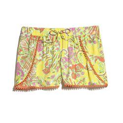 'Happy Place' pom pom shorts, $24, 2-18, 14W-26W (plus-size online only)