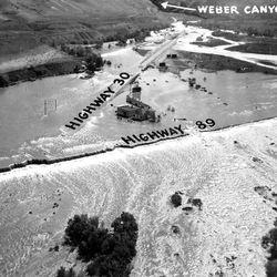 Flooding Weber Canyon area May 7, 1952.
