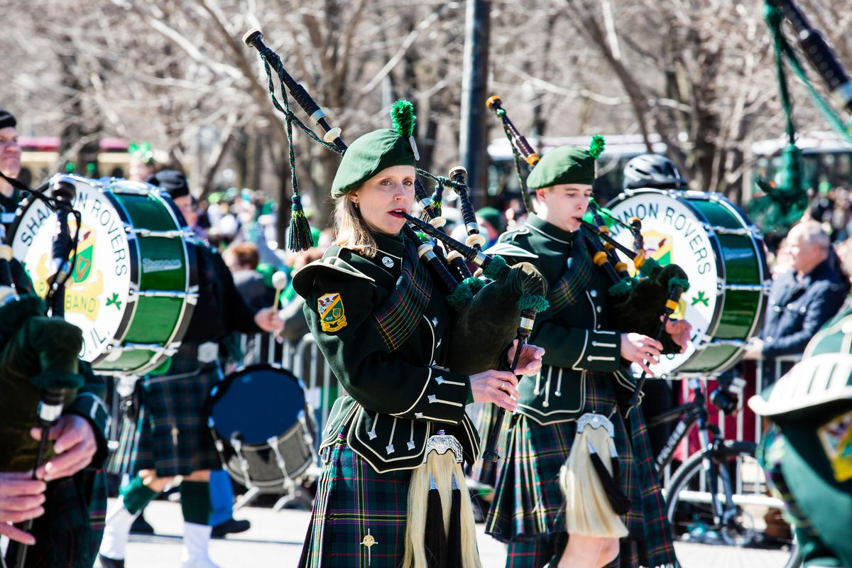 The Shannon Rovers at the Chicago St. Patrick's Day Parade.