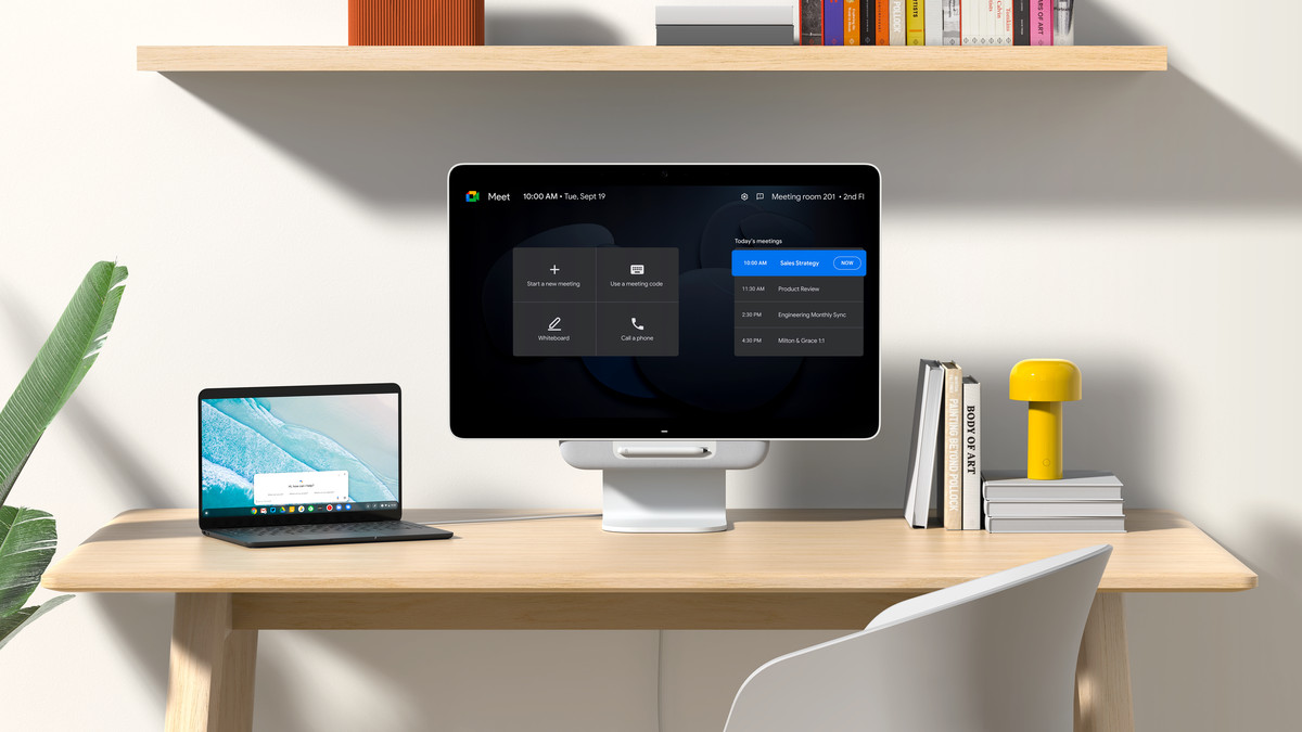 The Series One Desk 27 doubles as a laptop monitor