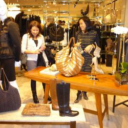 Shoppers perusing the boutique