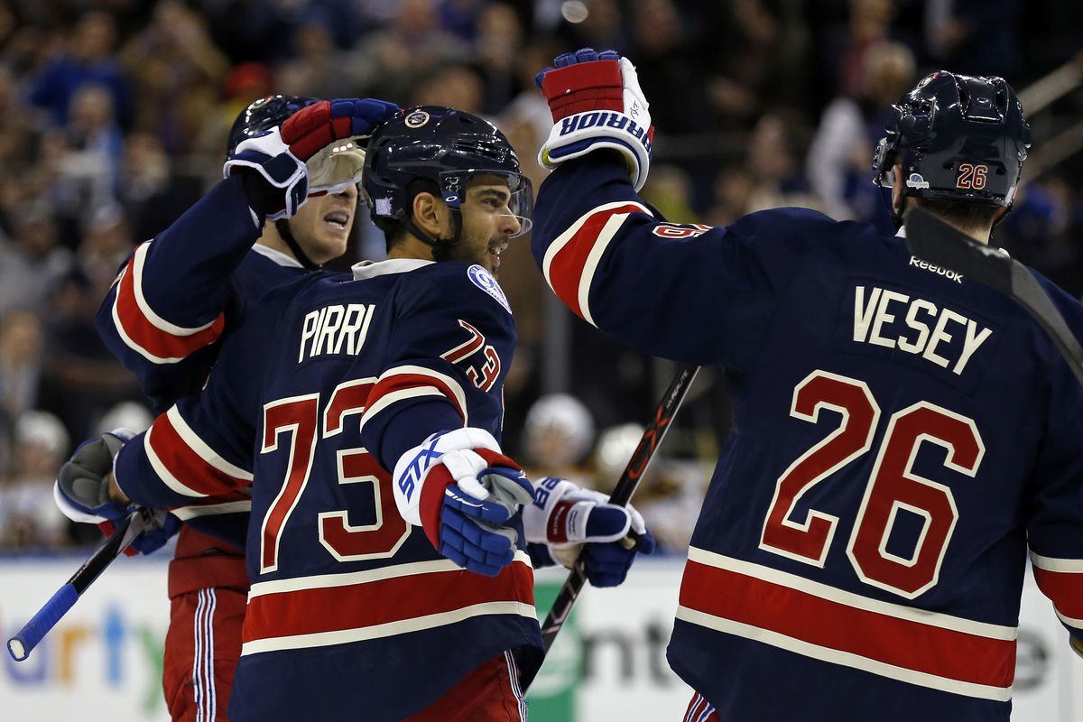 Brandon Pirri and Jimmy Vesey combined for three goals in last night's win against Boston