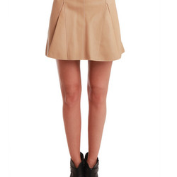 """Peplum skirt with raw flare, $350 (was $875) via <a href=""""http://www.blueandcream.com/w_Leather/LIMH3-3A.html""""> Blue and Cream </a>"""