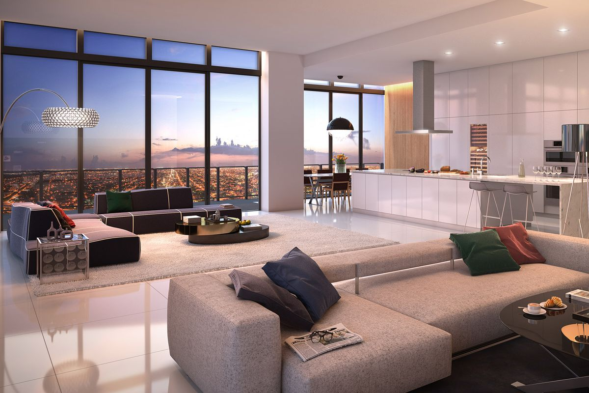 Rendering of a penthouse at brickell city centre courtesy of swire properties inc