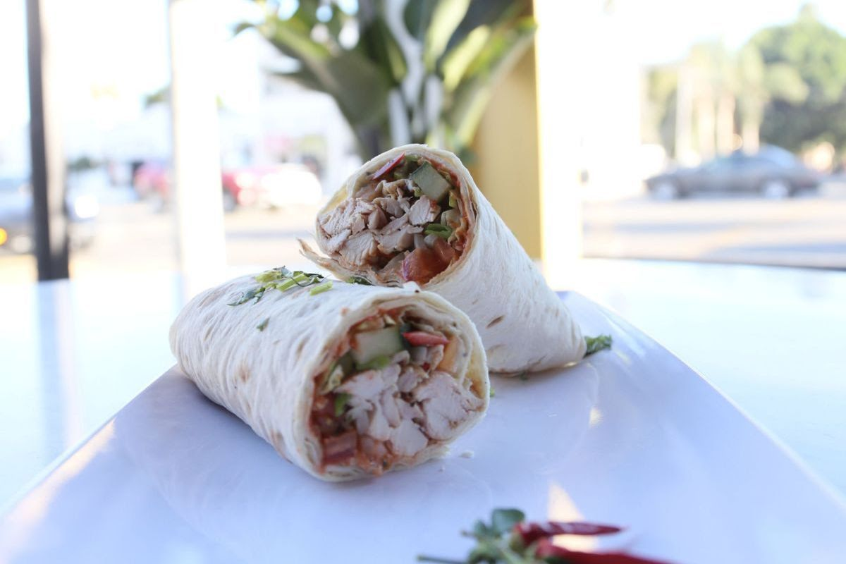 Chicken tikka wrap at All Spice Hollywood