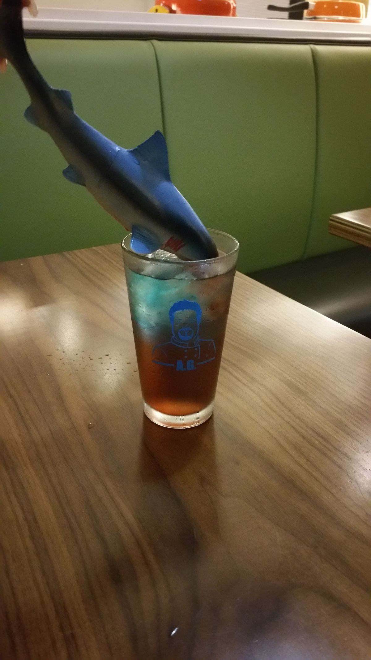 Bloody Shark Week cocktail in action. [Photo: Official]