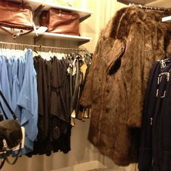 Lotsa fur jackets, lotsa dresses.