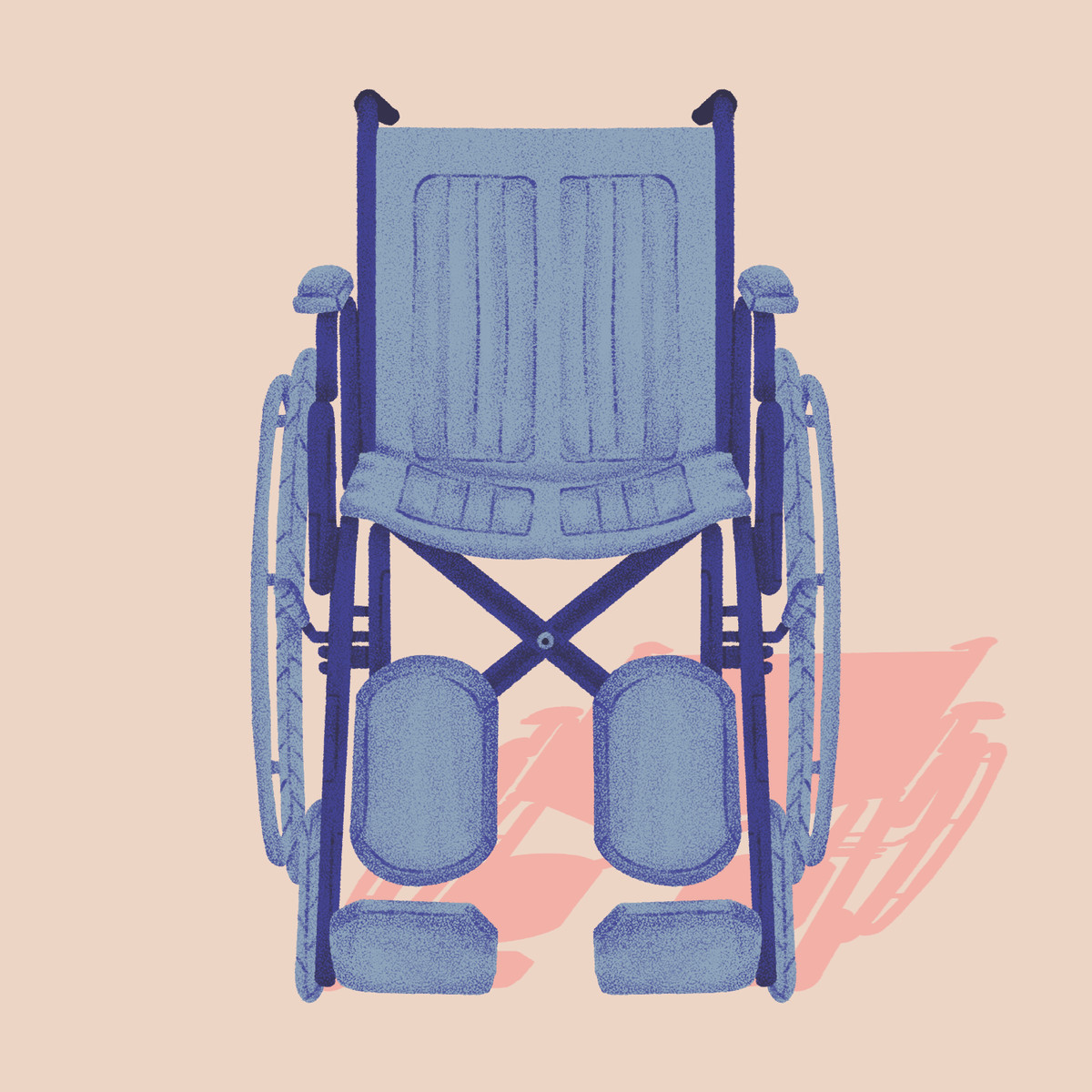 An empty wheelchair
