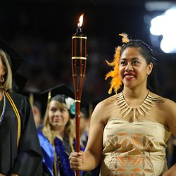 Salt Lake Community College commencement ceremony at the Maverick Center in West Valley City on Friday, May 6, 2016.