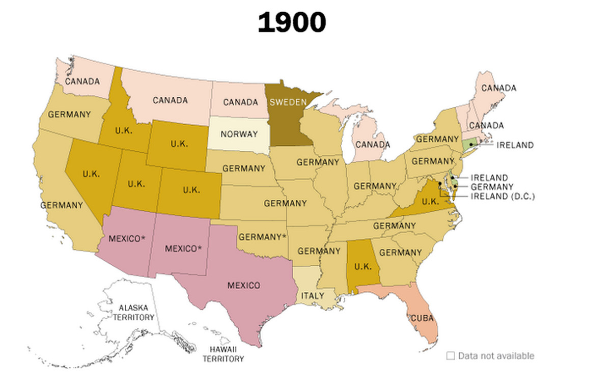 pew research center immigration map 1900