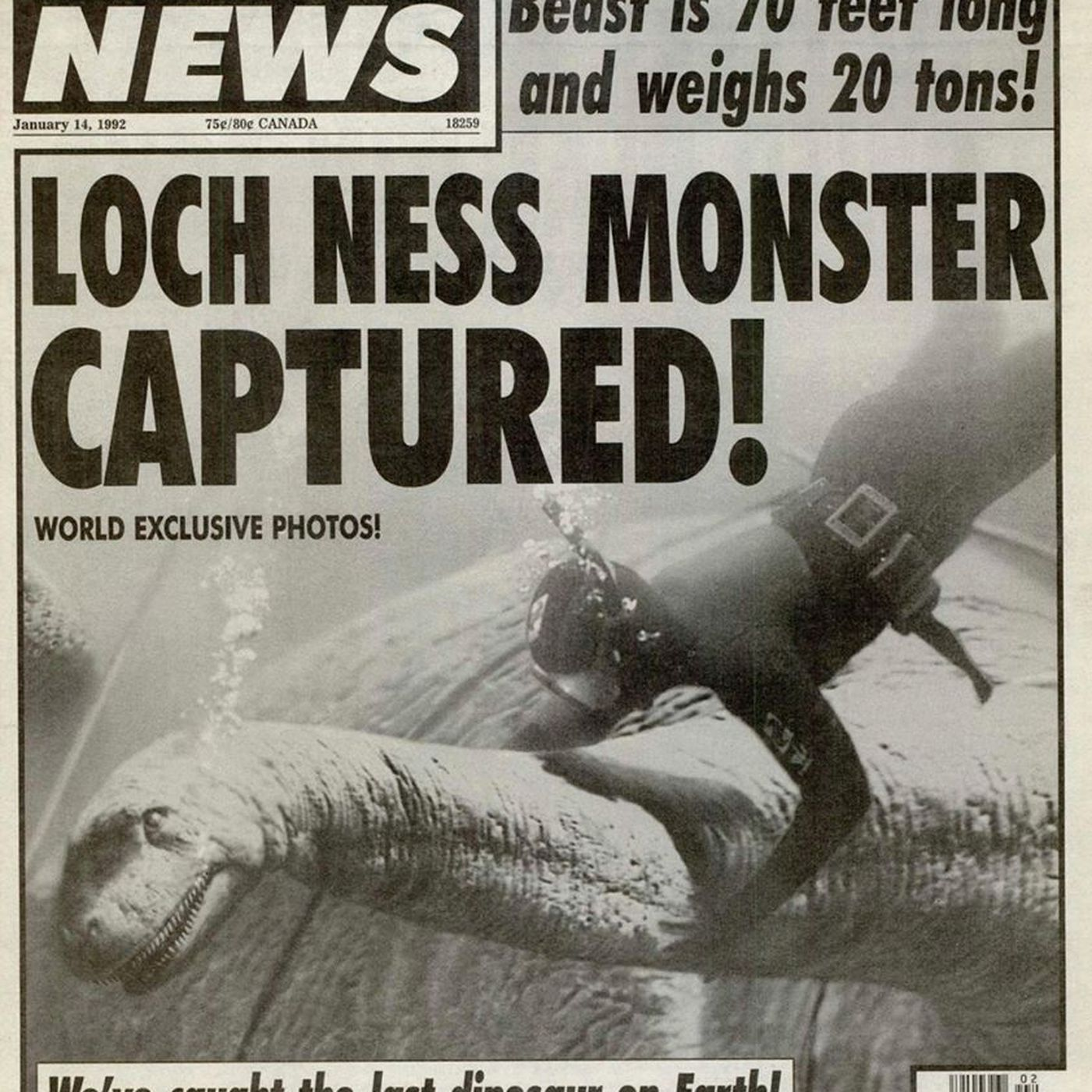 Image result for tabloid loch ness