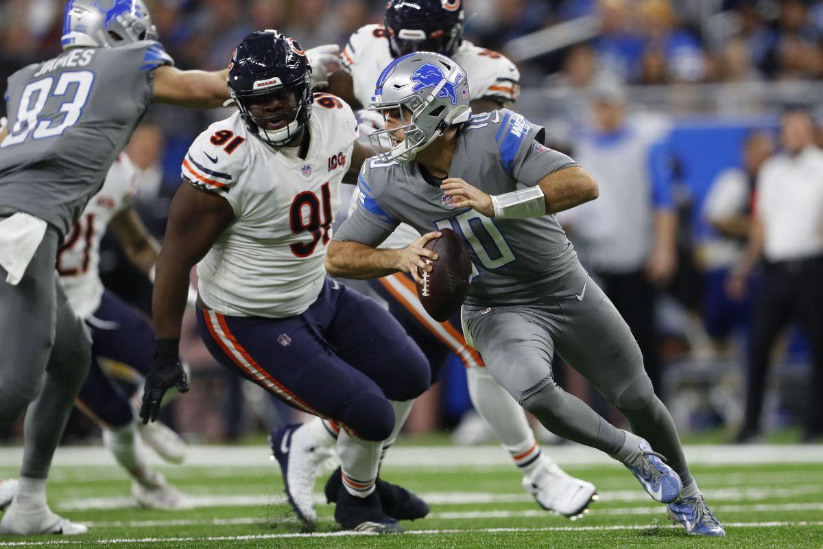 Bears nose tackle Eddie Goldman sat out last season with coronavirus concerns.