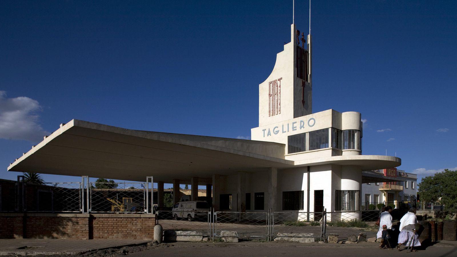 asmara architecture modernism fiat tagliero africa mussolini modern modernist eritrea italian station