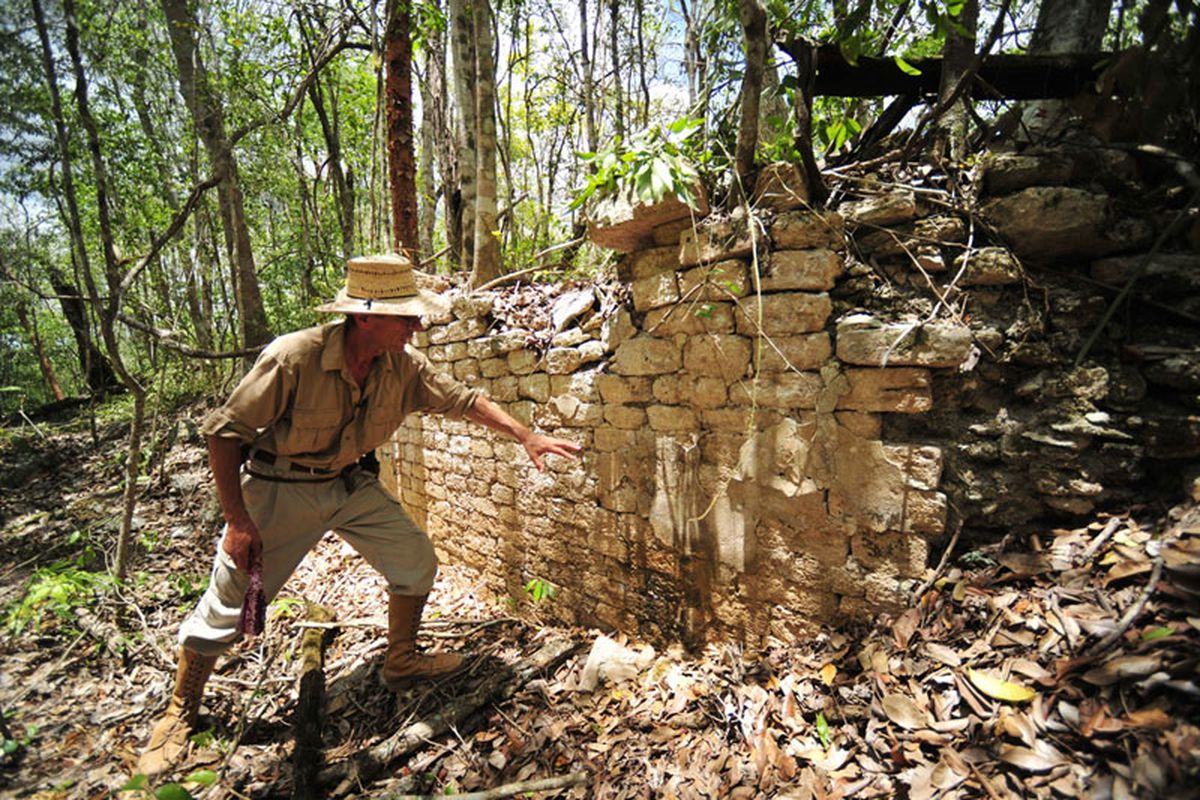 Red Rock lost mayan city in mexico via the INAH