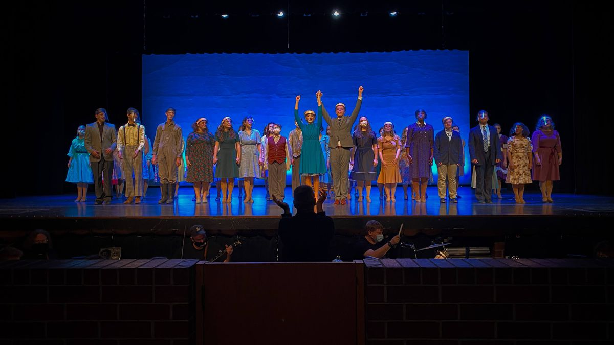 """Avon High School students performed the musical """"Bright Star"""" wearing face shields and masks."""