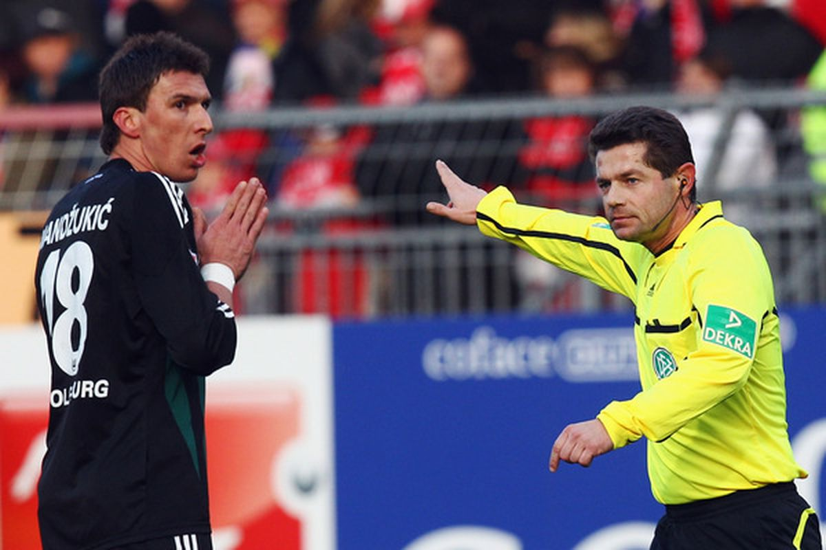 """""""Please do not compare me to Zigic. It makes Mario angry!""""  (Photo by Alex Grimm/Bongarts/Getty Images)"""