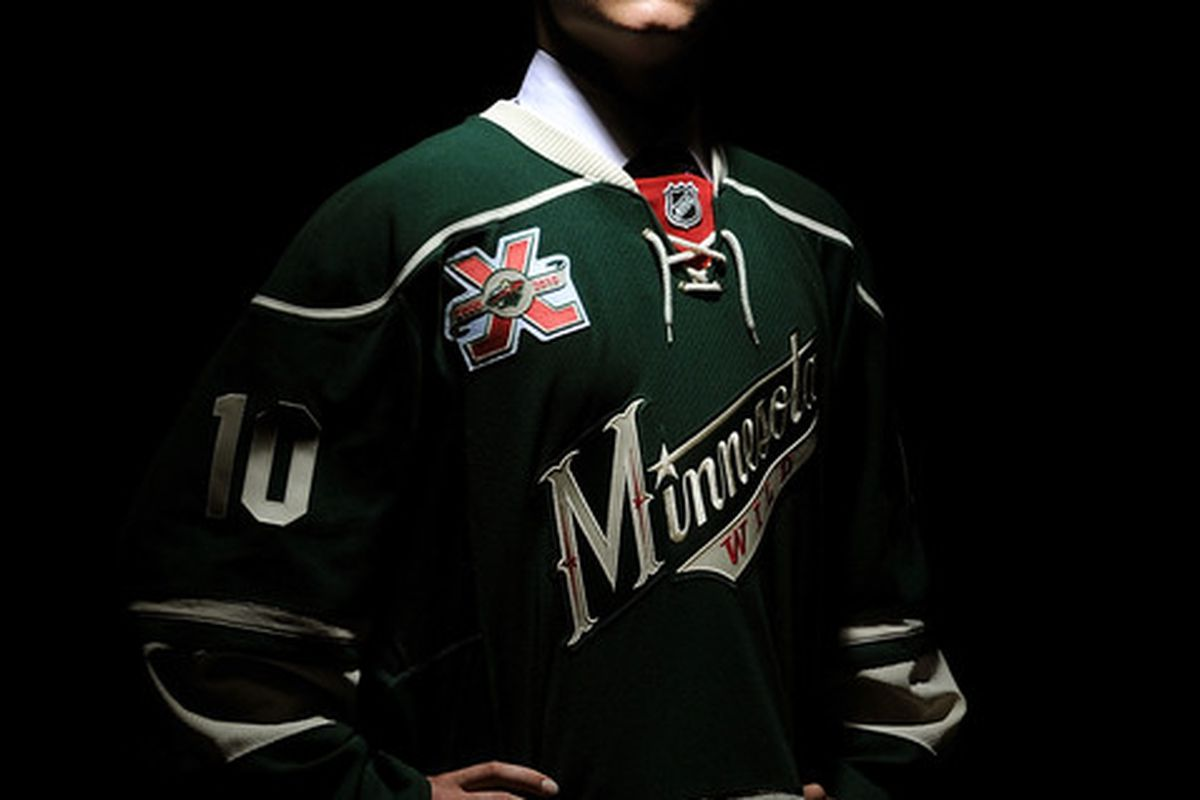 LOS ANGELES, CA - JUNE 25:  Mikael Granlund, drafted eighth overall by the Minnesota Wild, poses for a portrait during the 2010 NHL Entry Draft at Staples Center on June 25, 2010 in Los Angeles, California.  (Photo by Harry How/Getty Images)