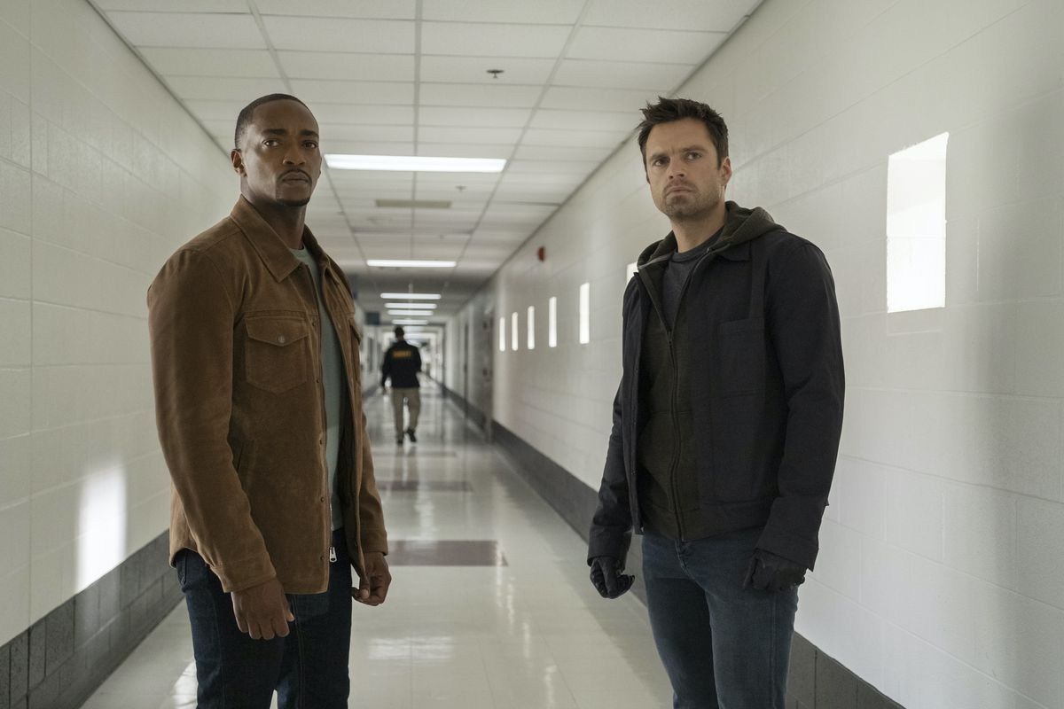 Falcon/Sam Wilson (Anthony Mackie) and Winter Soldier/Bucky Barnes (Sebastian Stan) in 'Falcon and The Winter Soldier.' 'The Falcon and The Winter Soldier' will have a new location that hasn't been used before