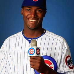 Junior Lake auditions for his post-baseball job