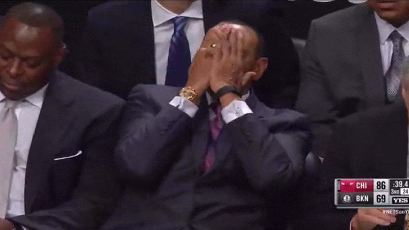 Lionel Hollins looks horrified after watching Andrea Bargnani