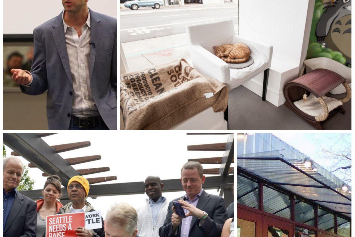 Mark Canlis (Top L); Cat Mania; Mayor Murray; Paseo