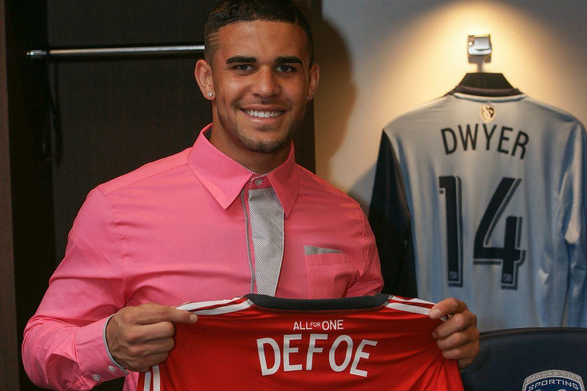 Dwyer got Defoe's jersey when they played