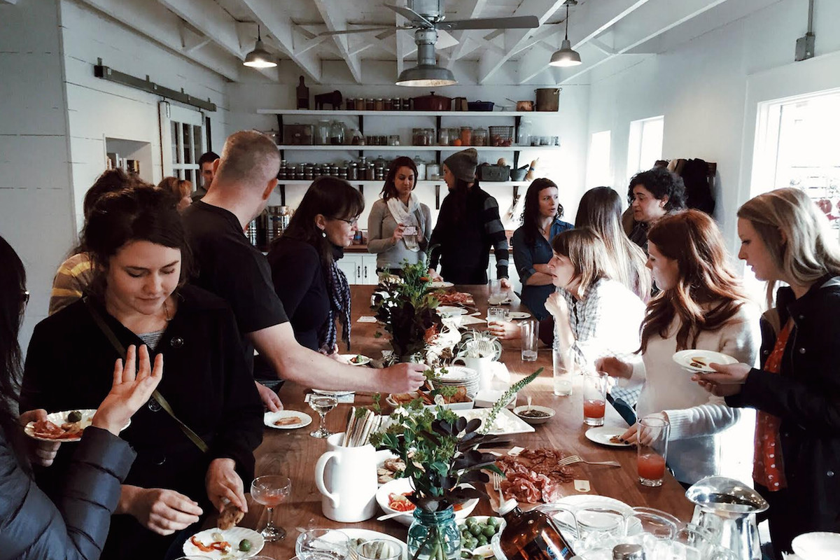 A class gathers at The Pantry