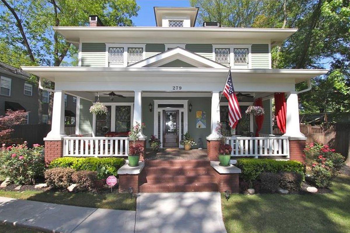 An American Foursquare home for sale in Atlanta's Decatur.