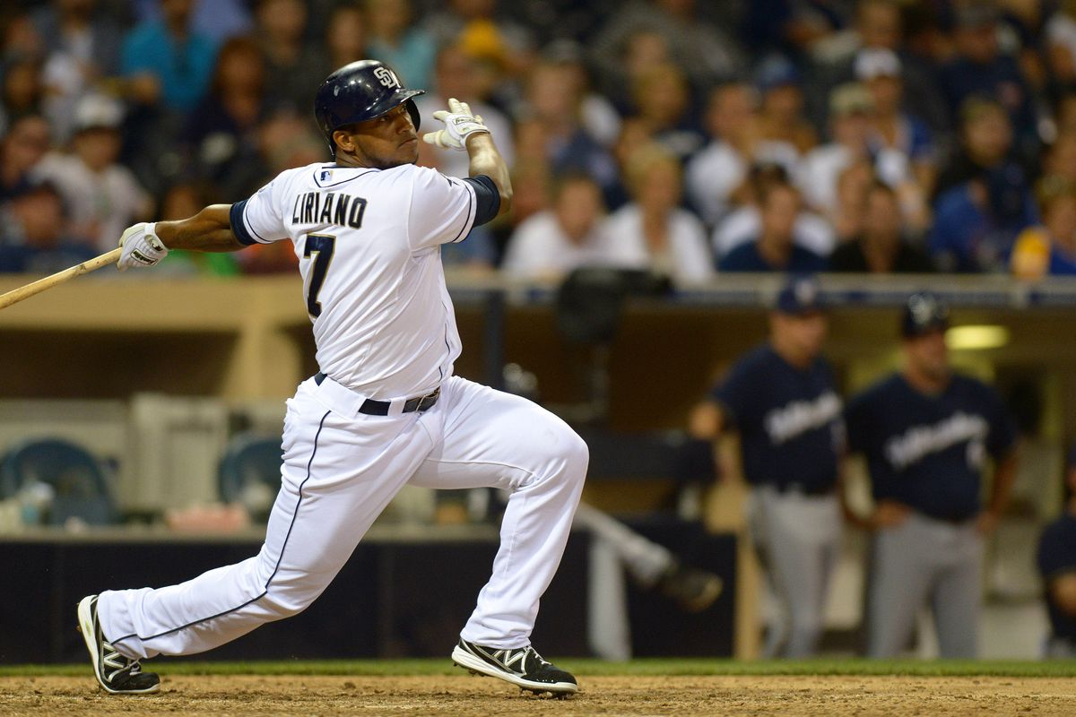 Padres outfielder Rymer Liriano could see more AB's if Upton or Venable is dealt.