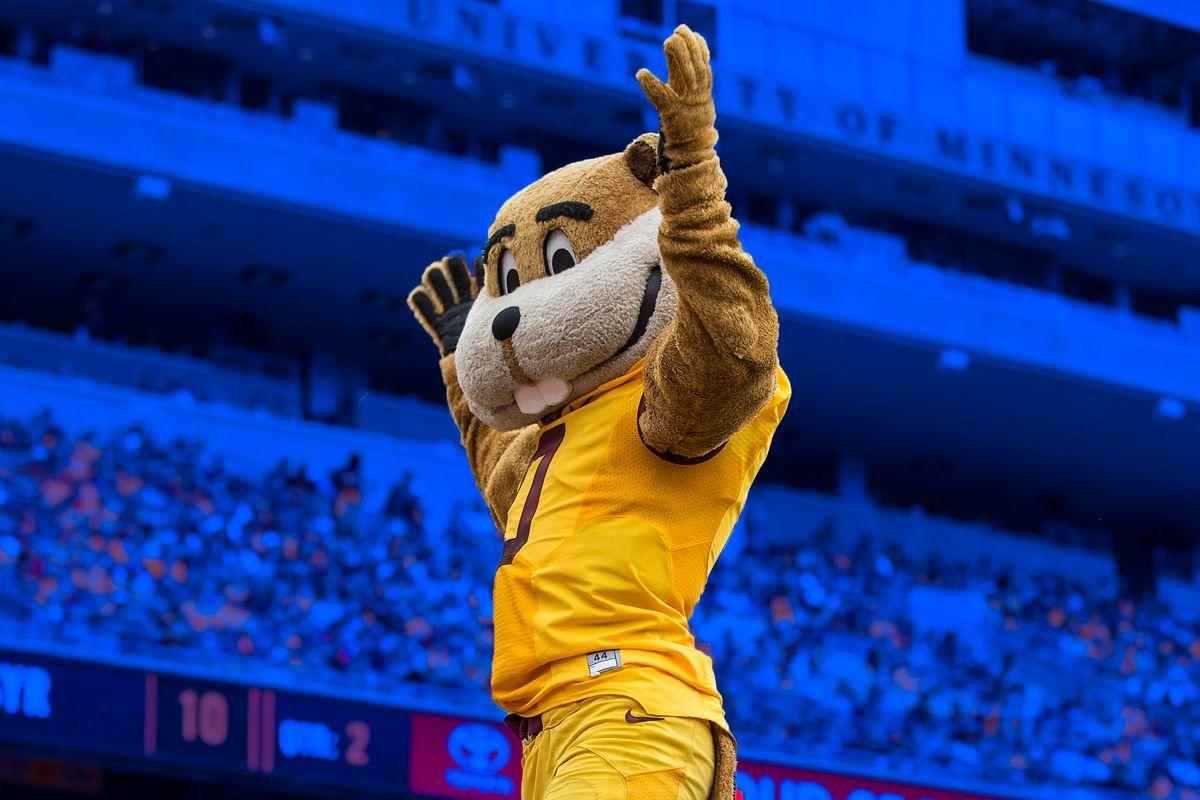 Minnesota Golden Gophers mascot Goldy Gopher