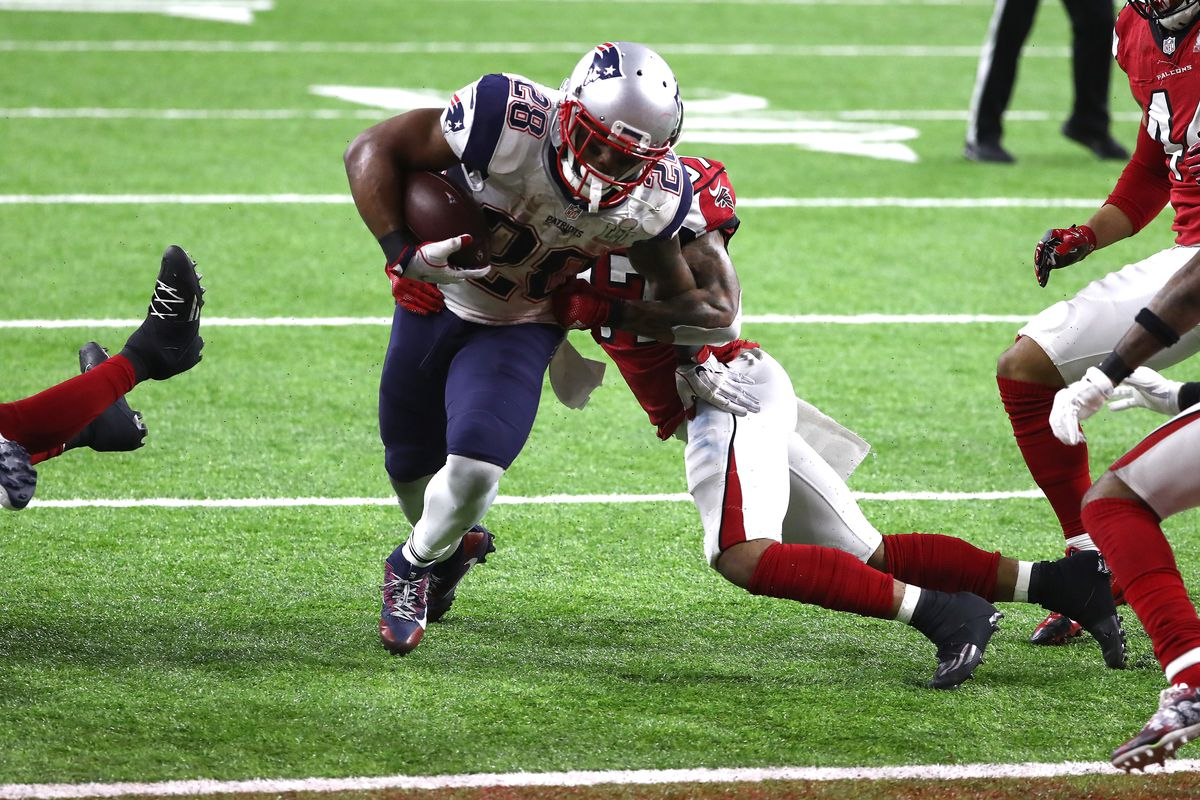 James White Breaks Record For Receptions Scores Game