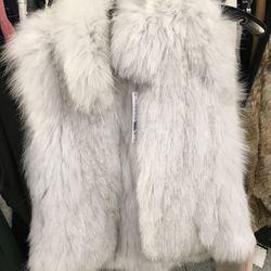 Theory fur vest, $720