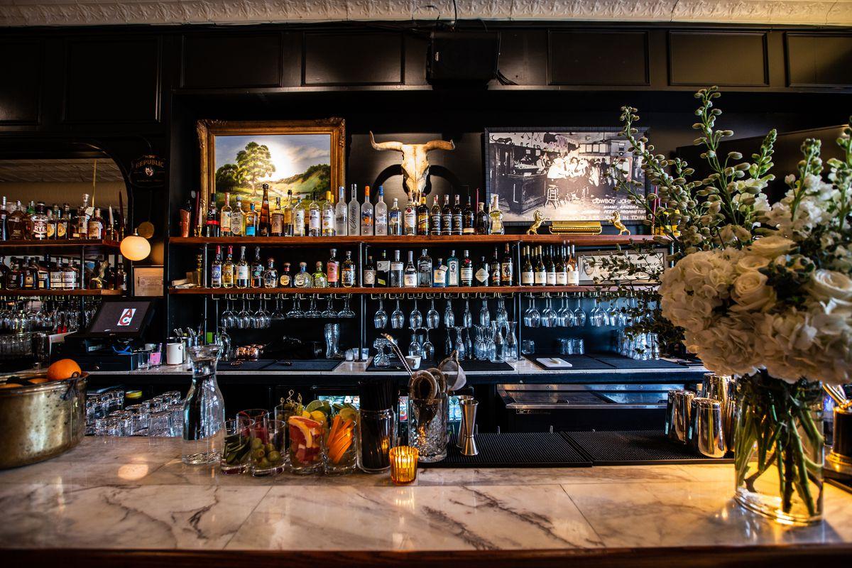 The bar at Alamo Club