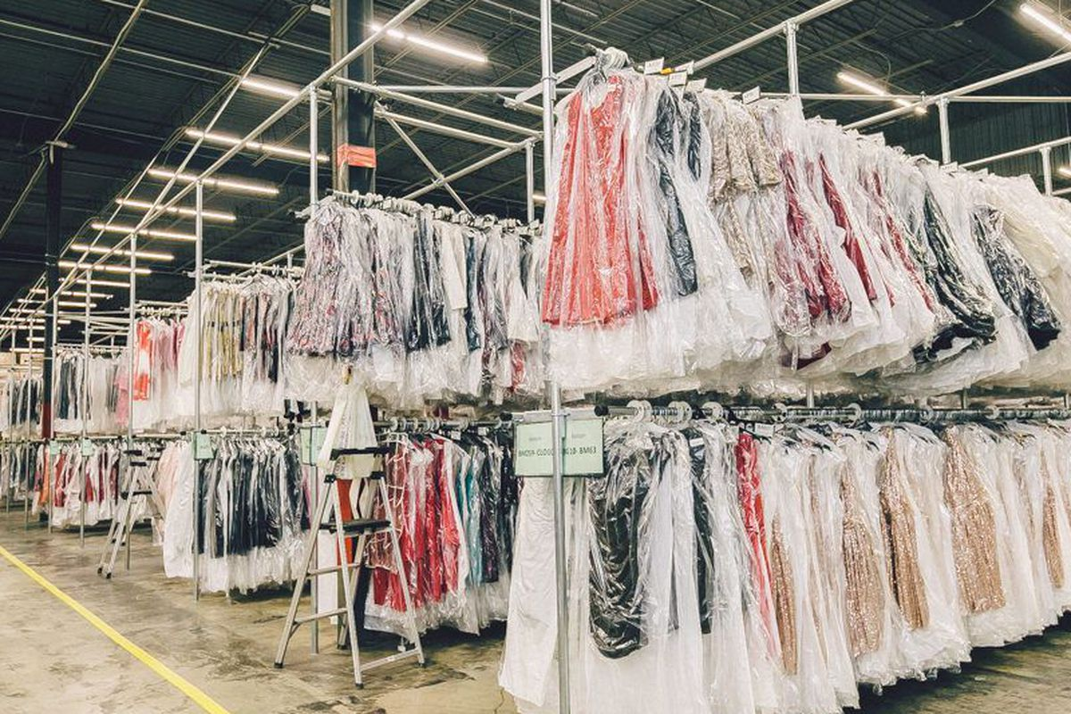 The Rent the Runway warehouse in Secaucus, New Jersey.