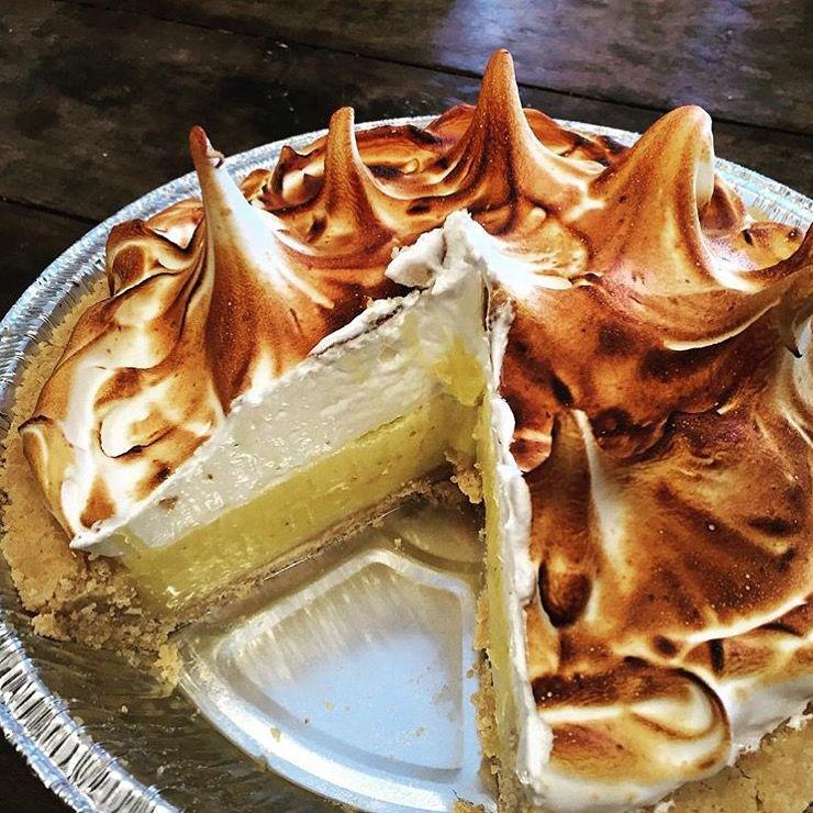 A lemon meringue pie.