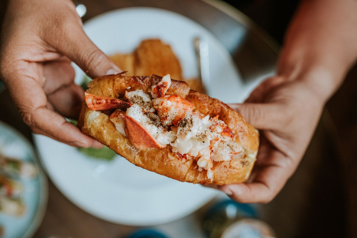 A lobster roll from the Oyster Bar at Les Sablons