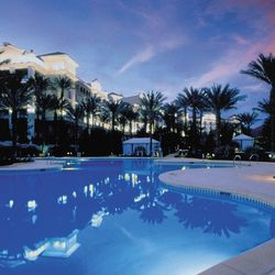 Relax by the pools at the <strong>JW Marriott </strong>in a poolside cabana. The 11,000-square-foot pool area is surrounded by waterfalls, palm trees, lounge chairs and views of the golf courses and mountains. To complete the experience, guests can order